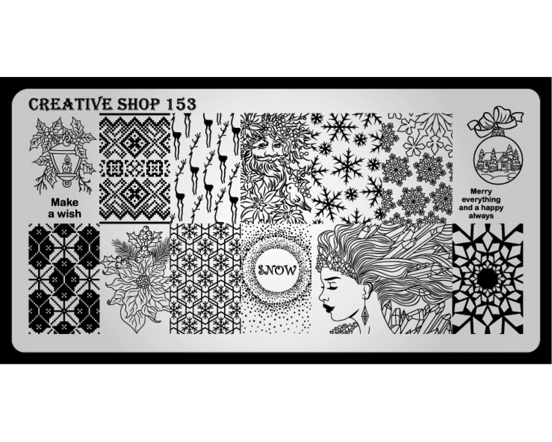 Пластина для стемпинга Creative Shop 153