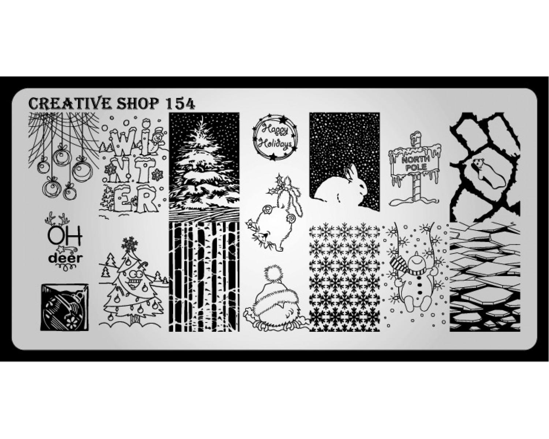 Пластина для стемпинга Creative Shop 154