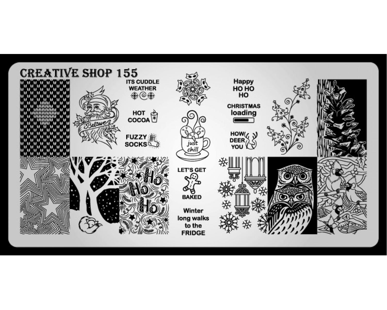 Пластина для стемпинга Creative Shop 155