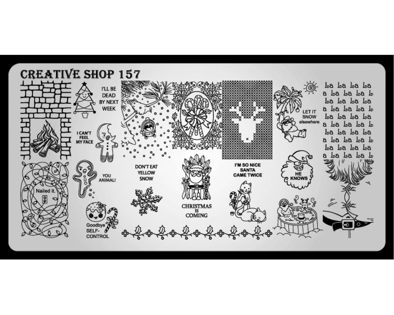 Пластина для стемпинга Creative Shop 157