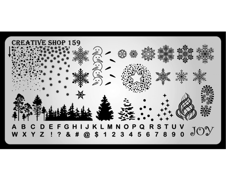 Пластина для стемпинга Creative Shop 159