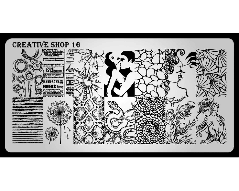 Пластина для стемпинга Creative Shop 16