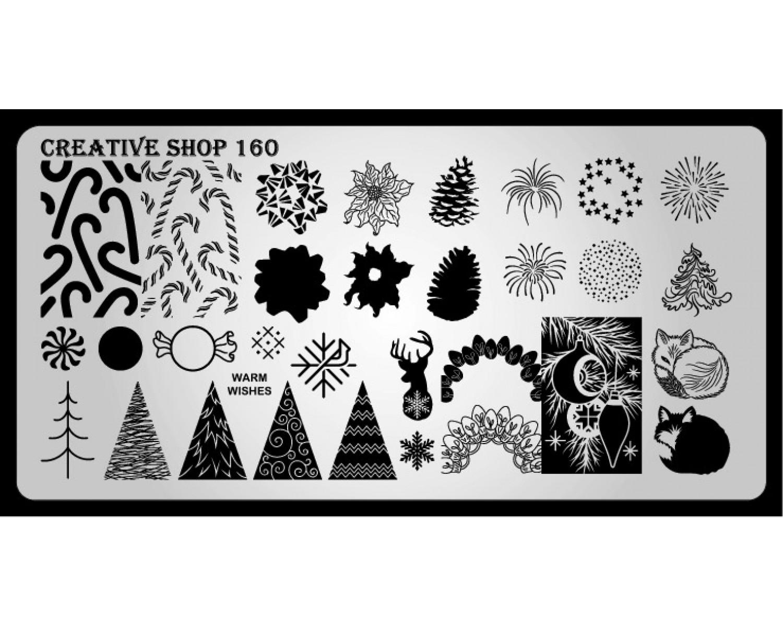 Пластина для стемпинга Creative Shop 160