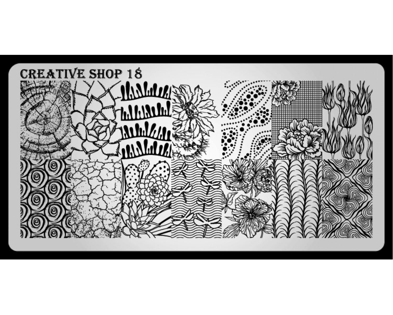 Пластина для стемпинга Creative Shop 18