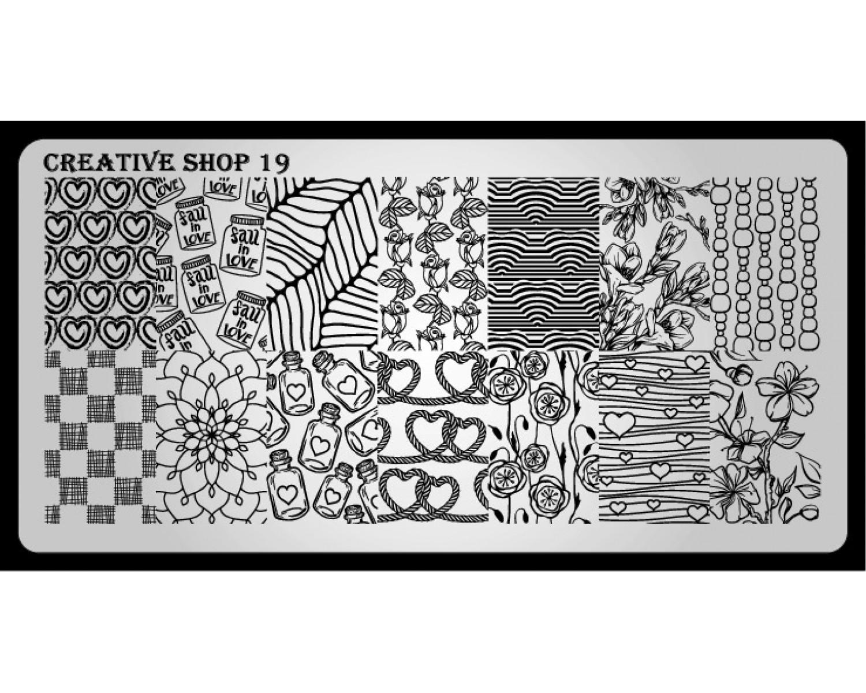 Пластина для стемпинга Creative Shop 19