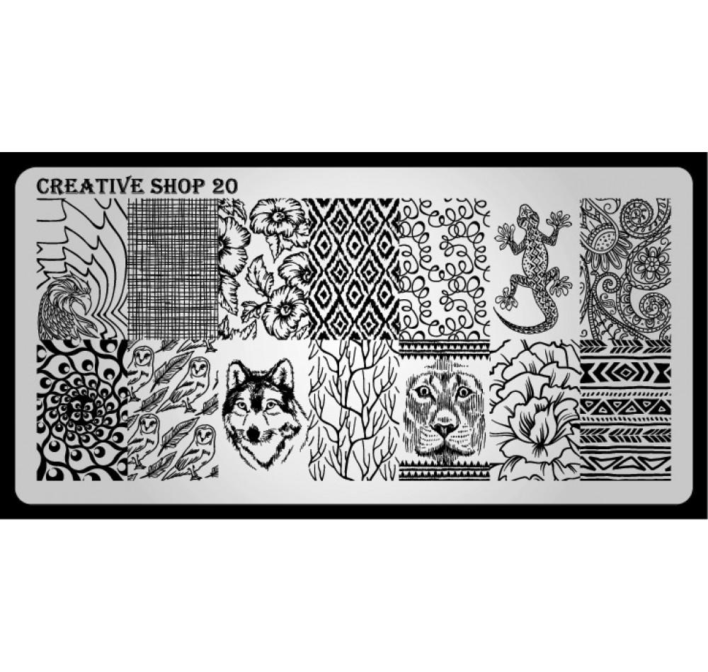 Пластина для стемпинга Creative Shop 20