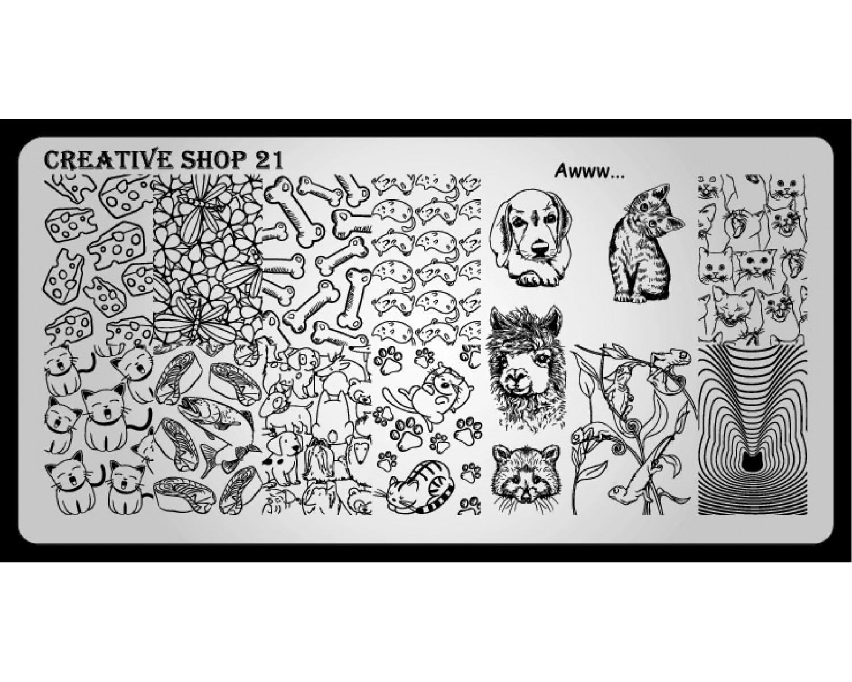 Пластина для стемпинга Creative Shop 21