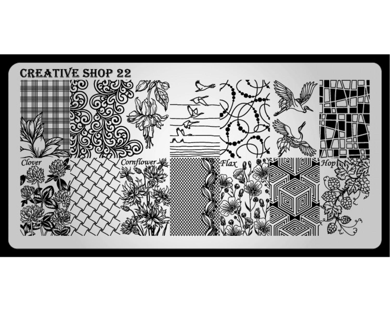 Пластина для стемпинга Creative Shop 22