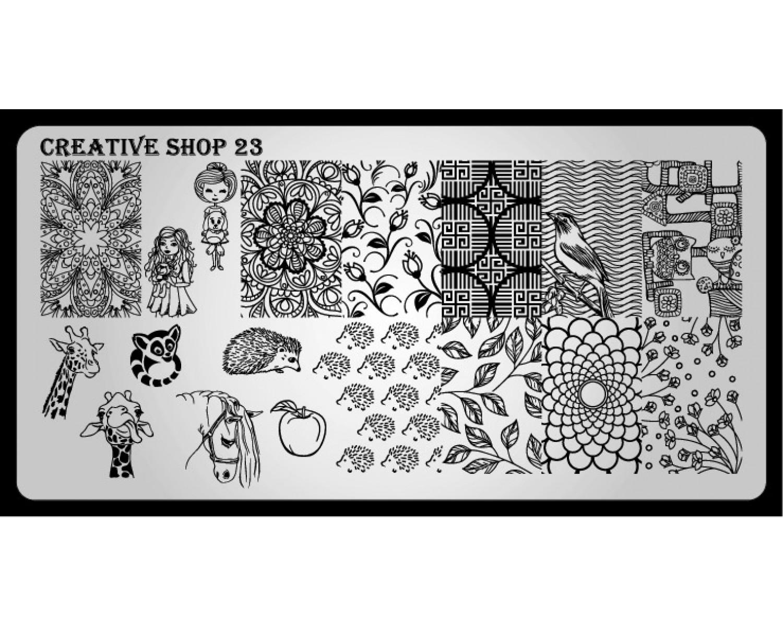 Пластина для стемпинга Creative Shop 23