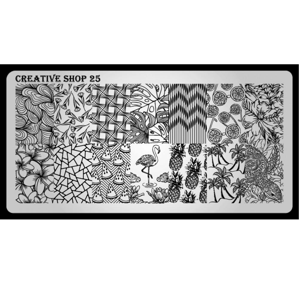 Пластина для стемпинга Creative Shop 25
