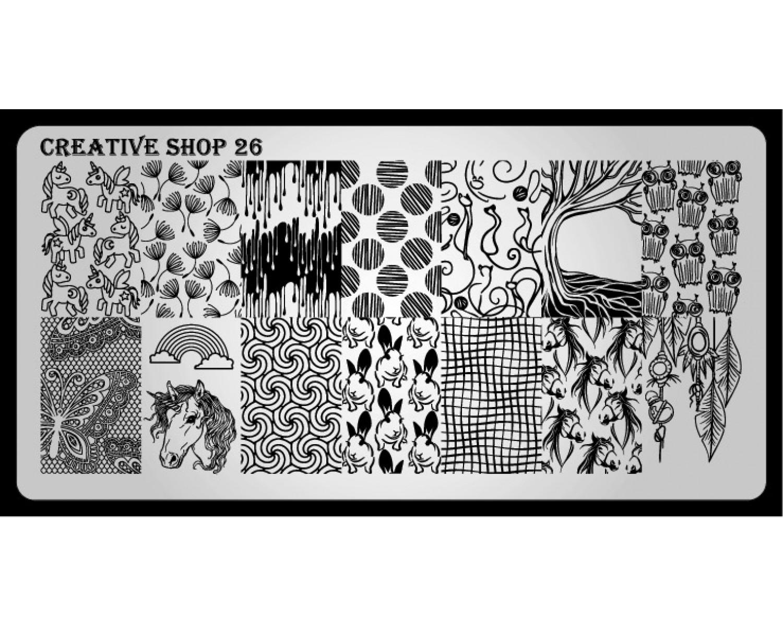 Пластина для стемпинга Creative Shop 26