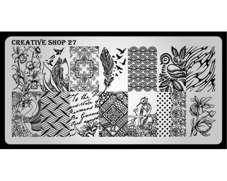 Пластина для стемпинга Creative Shop 27