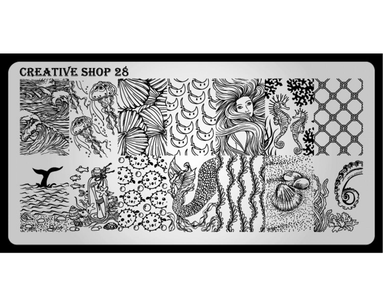 Пластина для стемпинга Creative Shop 28
