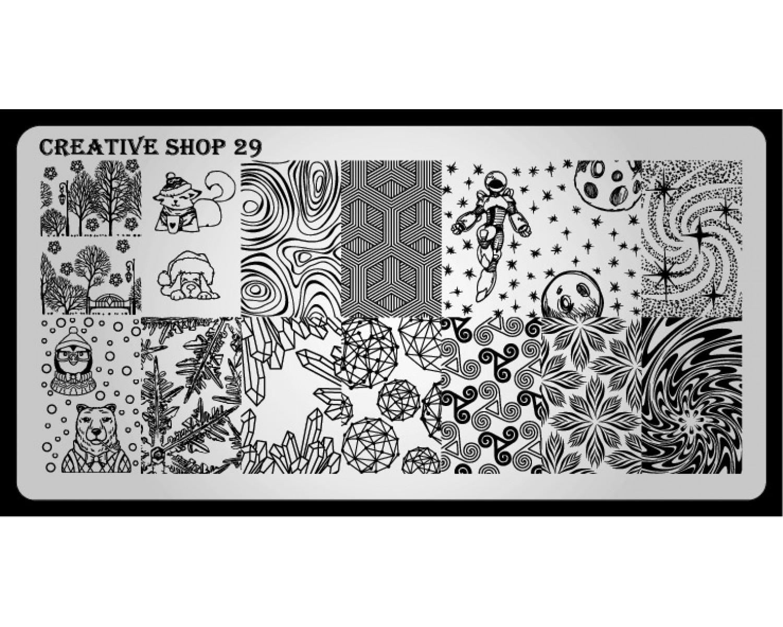Пластина для стемпинга Creative Shop 29