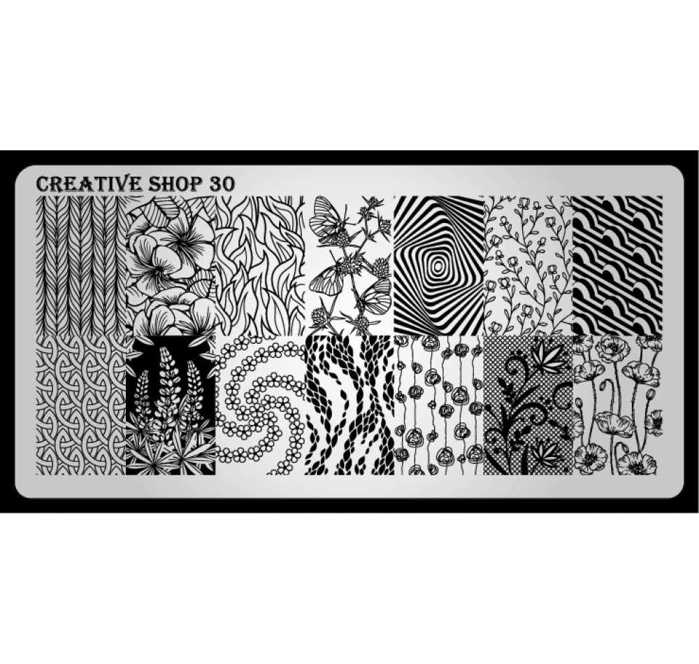 Пластина для стемпинга Creative Shop 30