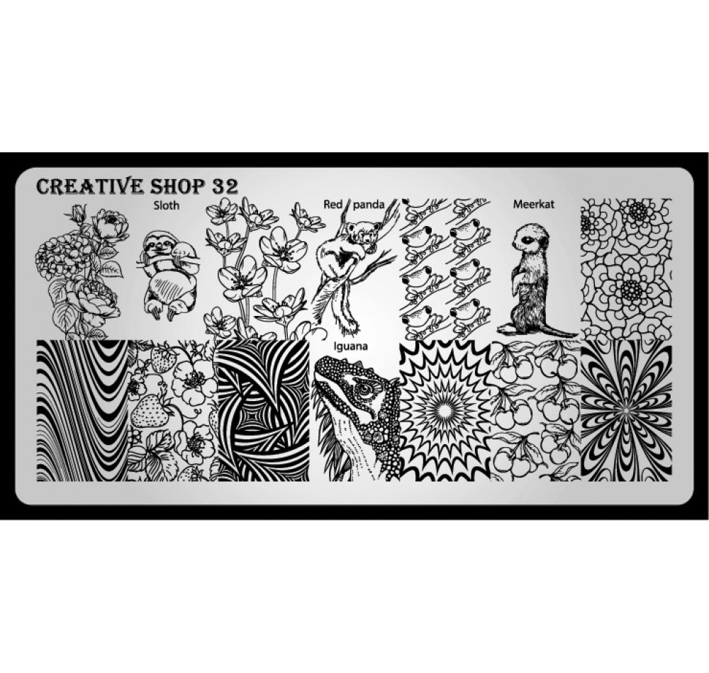 Пластина для стемпинга Creative Shop 32