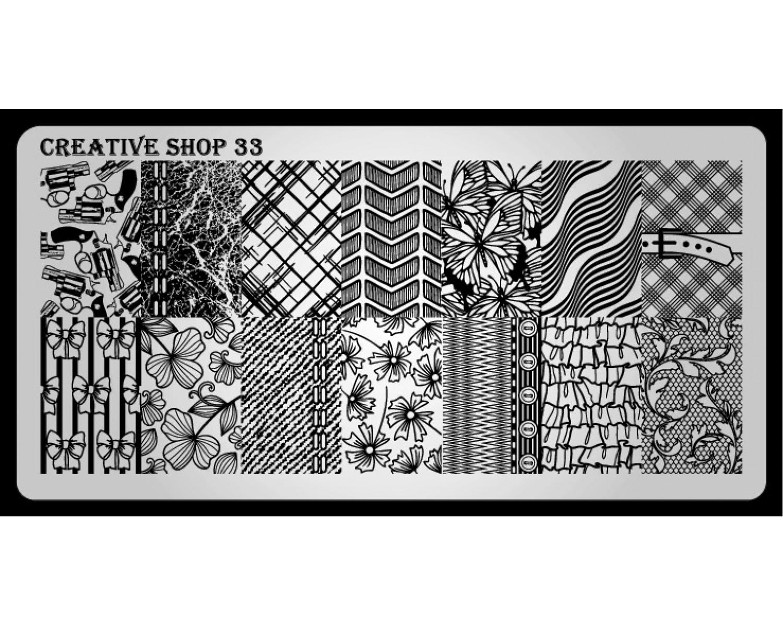 Пластина для стемпинга Creative Shop 33