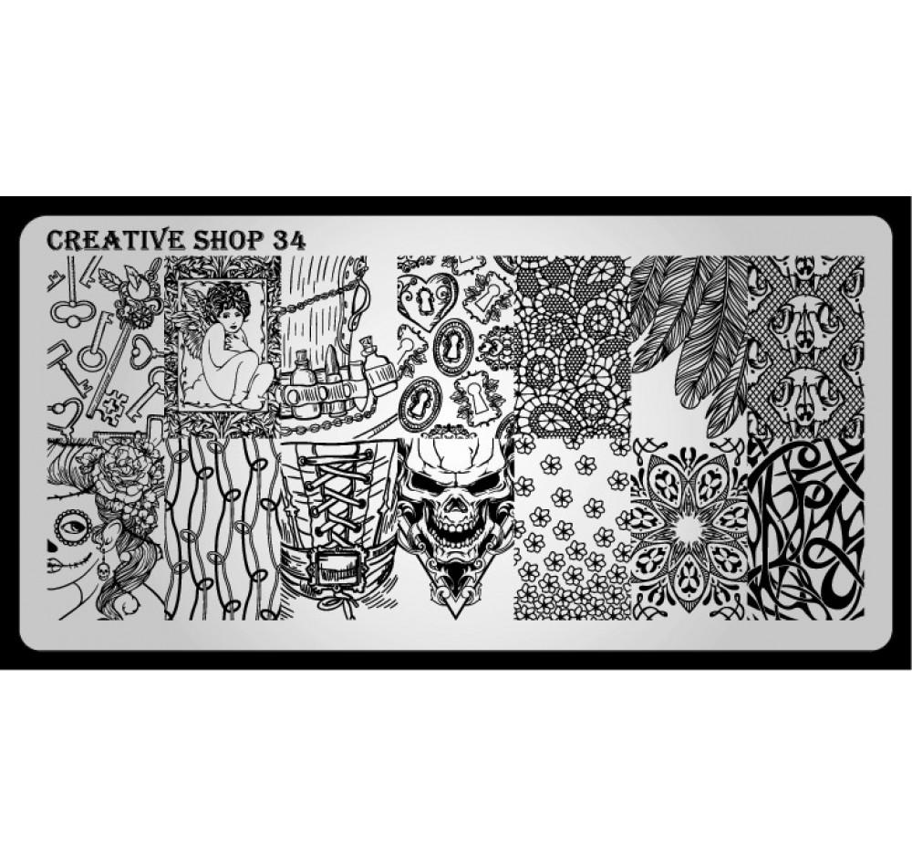Пластина для стемпинга Creative Shop 34