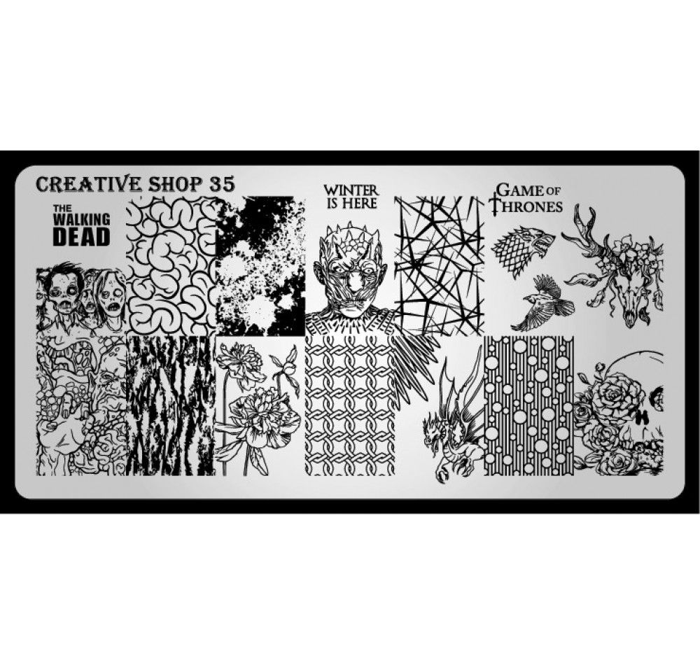 Пластина для стемпинга Creative Shop 35