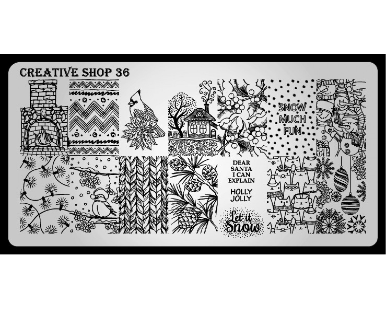 Пластина для стемпинга Creative Shop 36