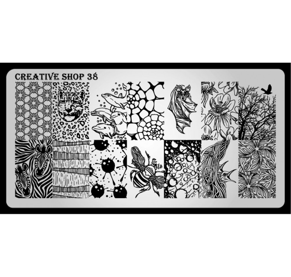 Пластина для стемпинга Creative Shop 38