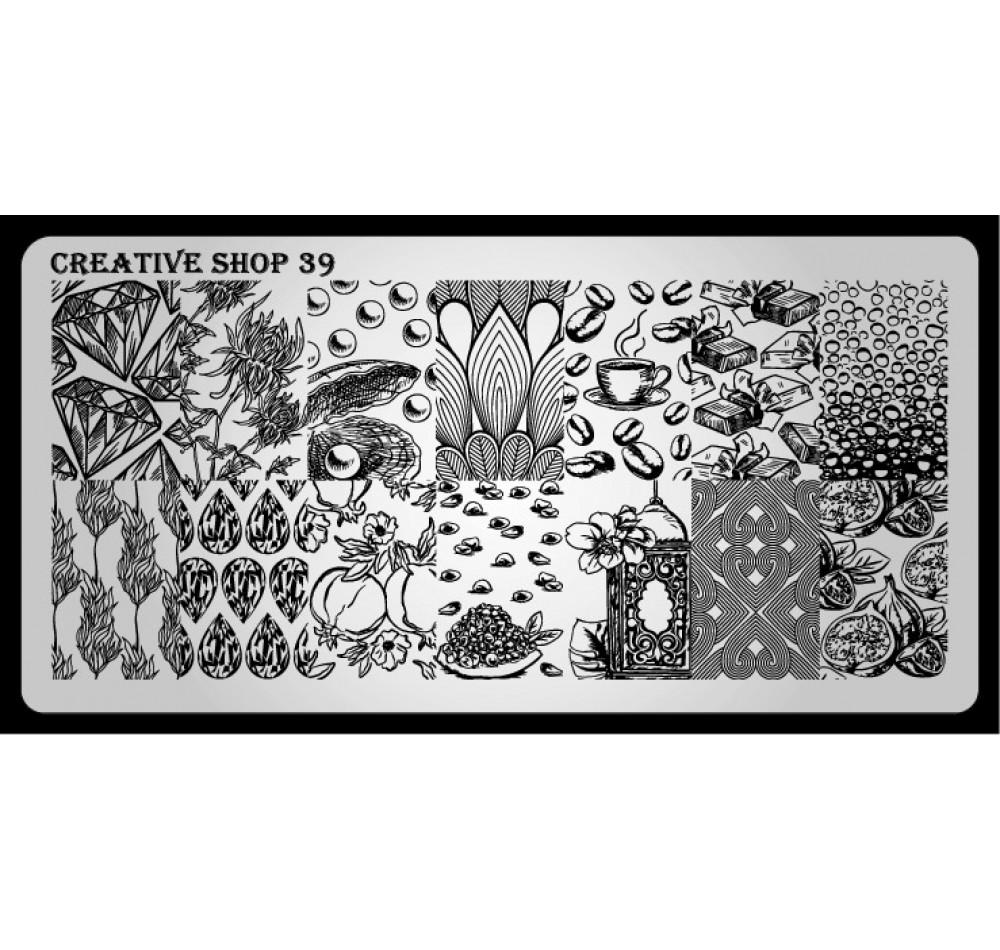 Пластина для стемпинга Creative Shop 39