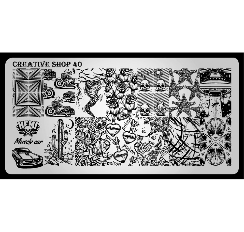 Пластина для стемпинга Creative Shop 40
