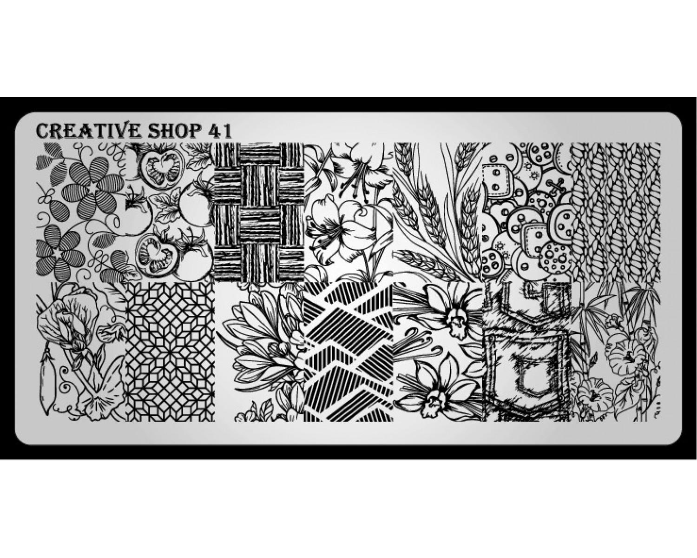 Пластина для стемпинга Creative Shop 41
