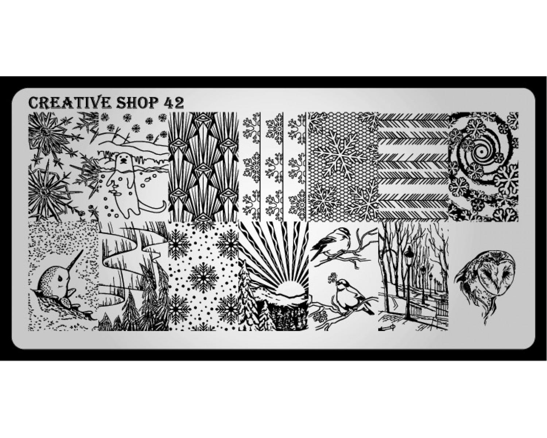 Пластина для стемпинга Creative Shop 42