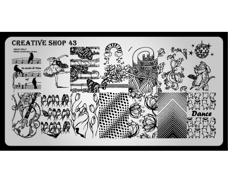 Пластина для стемпинга Creative Shop 43