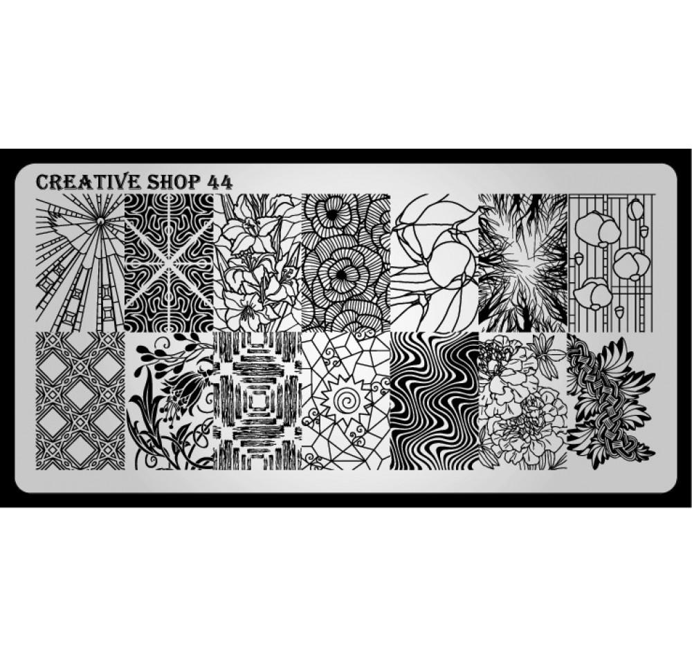 Пластина для стемпинга Creative Shop 44