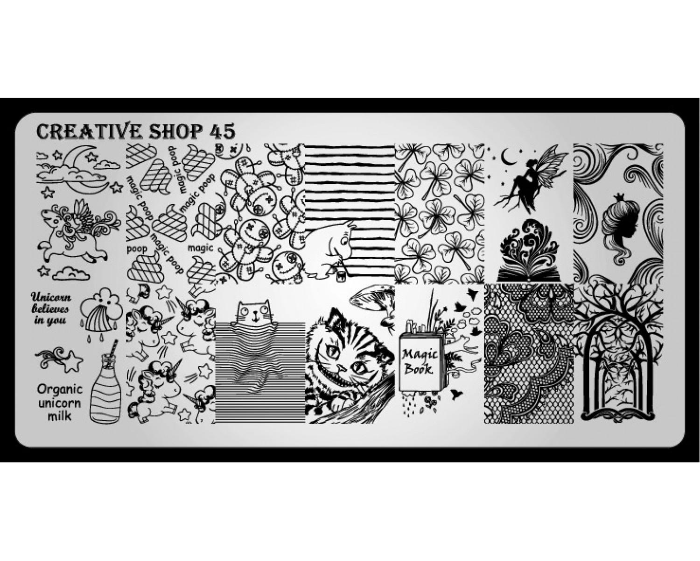 Пластина для стемпинга Creative Shop 45