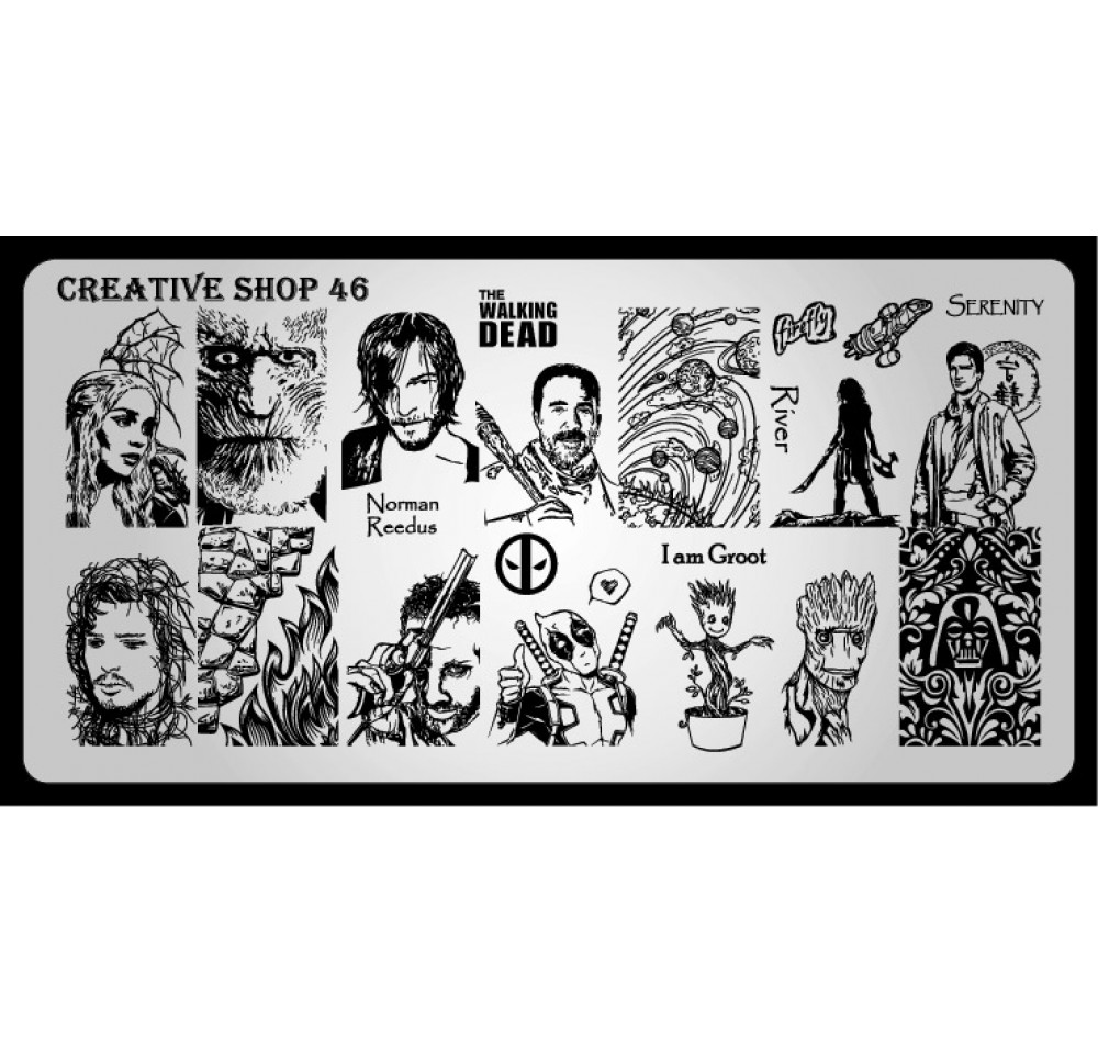 Пластина для стемпинга Creative Shop 46