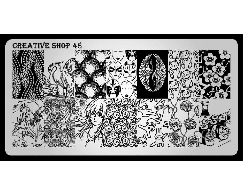 Пластина для стемпинга Creative Shop 48