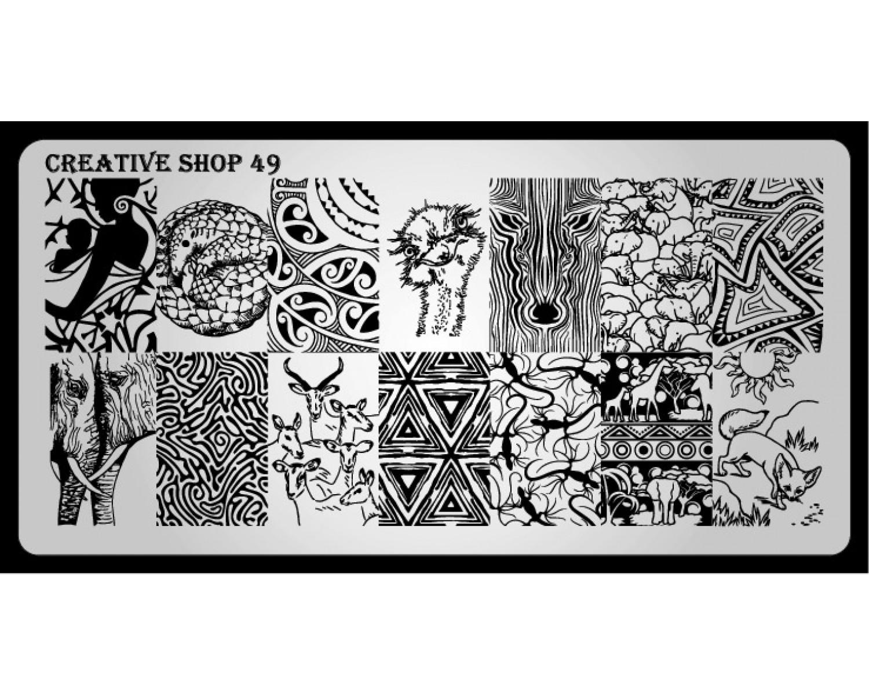 Пластина для стемпинга Creative Shop 49