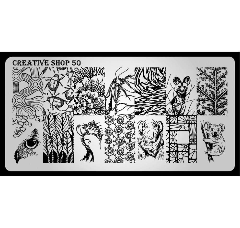 Пластина для стемпинга Creative Shop 50