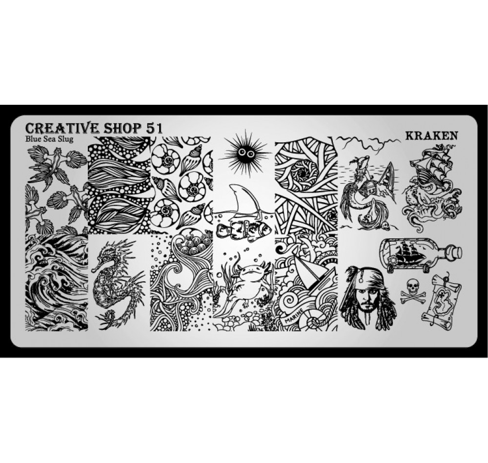 Пластина для стемпинга Creative Shop 51