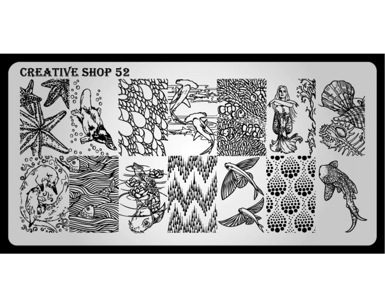Пластина для стемпинга Creative Shop 52