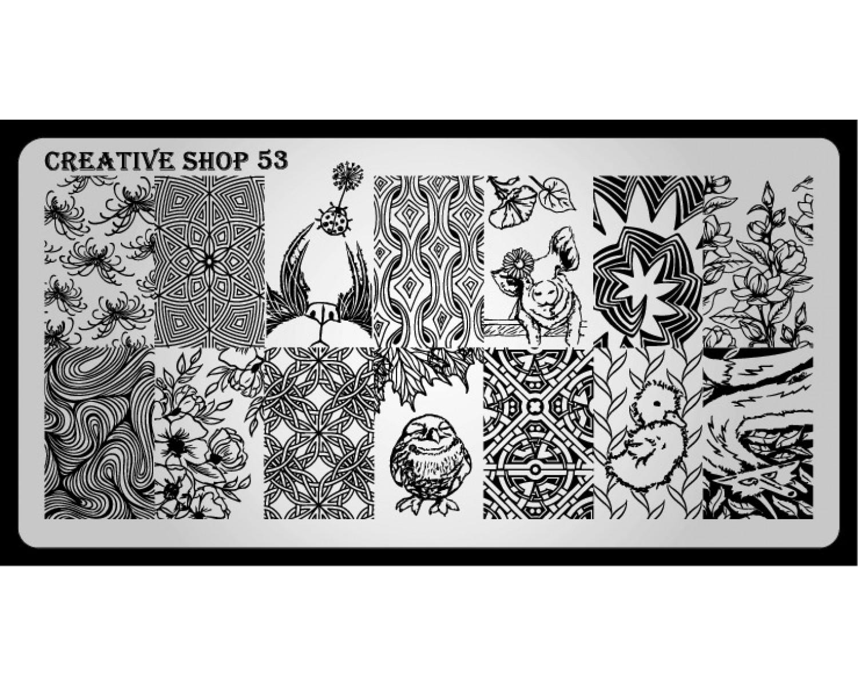 Пластина для стемпинга Creative Shop 53