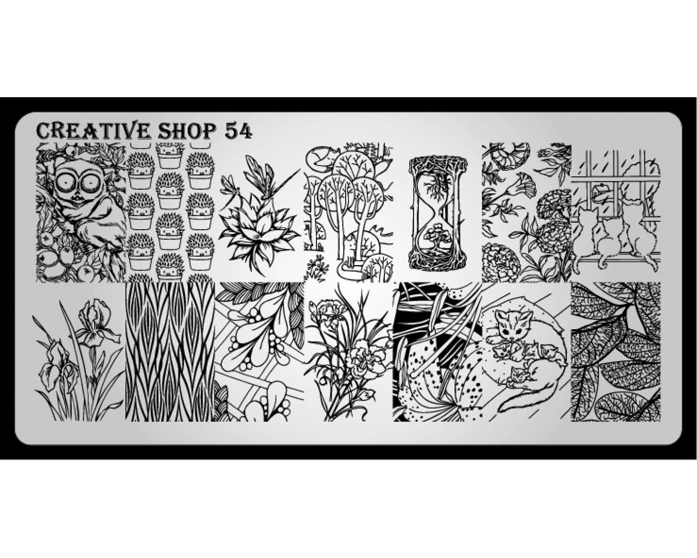 Пластина для стемпинга Creative Shop 54