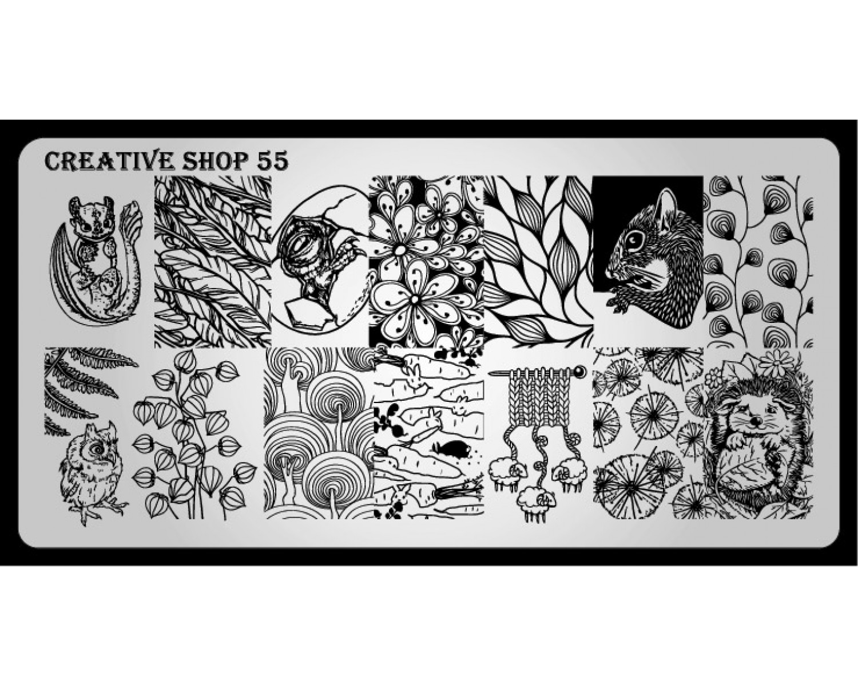 Пластина для стемпинга Creative Shop 55