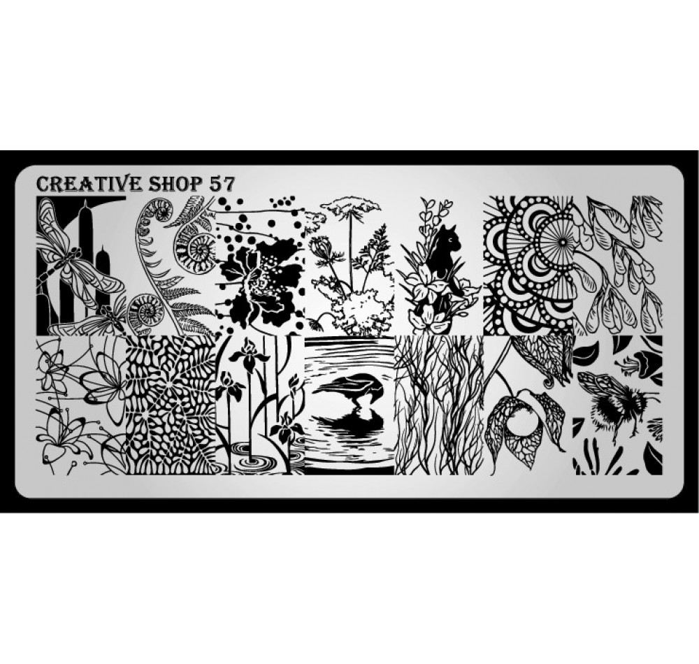 Пластина для стемпинга Creative Shop 57