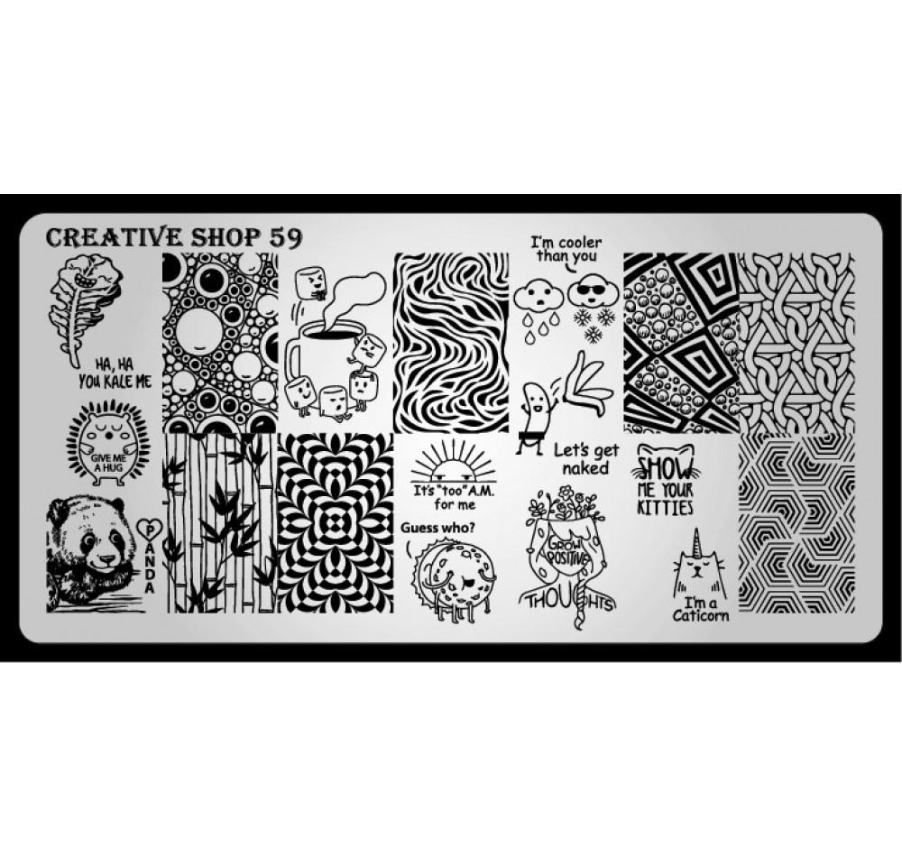 Пластина для стемпинга Creative Shop 59