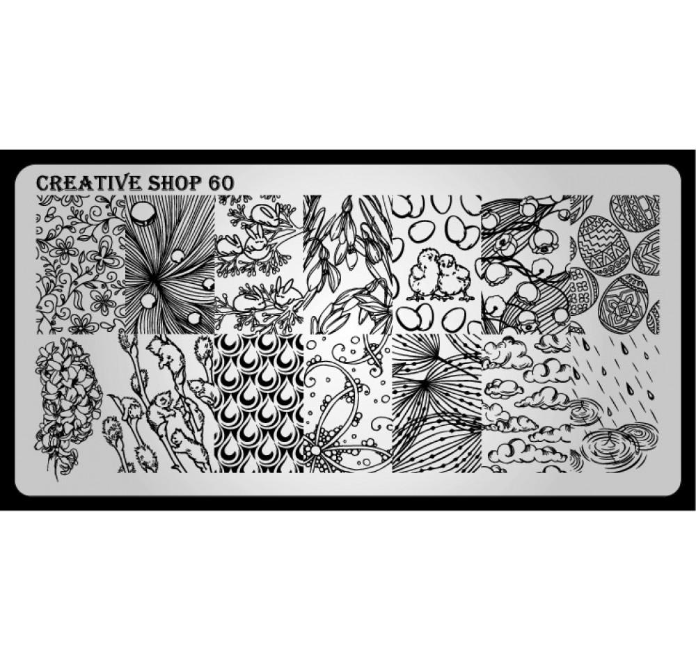 Пластина для стемпинга Creative Shop 60
