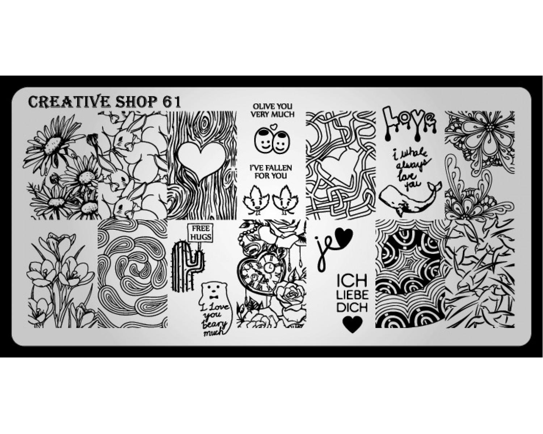 Пластина для стемпинга Creative Shop 61