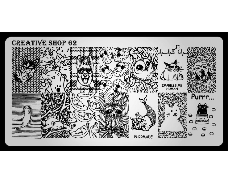 Пластина для стемпинга Creative Shop 62