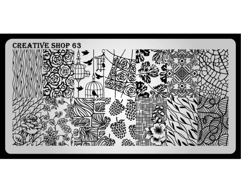 Пластина для стемпинга Creative Shop 63