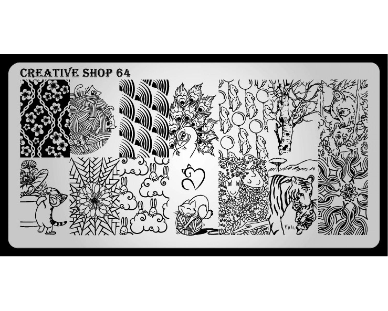 Пластина для стемпинга Creative Shop 64