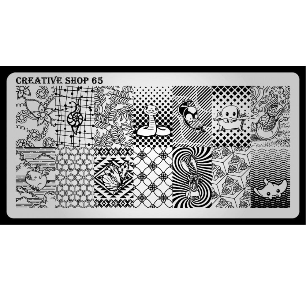 Пластина для стемпинга Creative Shop 65
