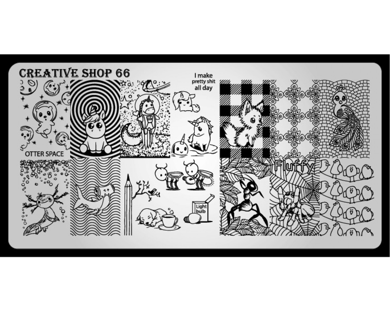 Пластина для стемпинга Creative Shop 66